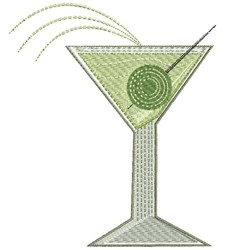 Rippled Martini embroidery design