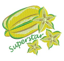 Superstar Star Fruit embroidery design
