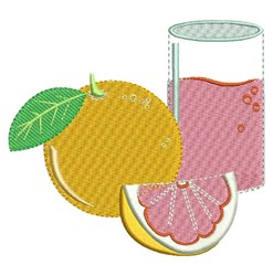 Grapefruit embroidery design