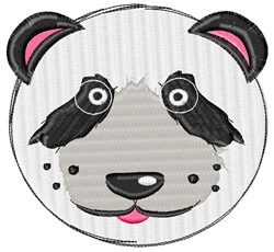 Cartoon Panda Head embroidery design