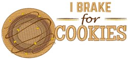 Brake For Cookies embroidery design