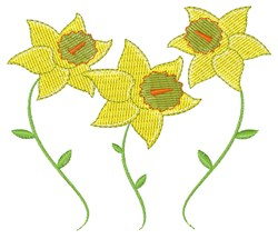 Spring Daffodils embroidery design