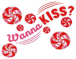 Wanna Kiss? embroidery design