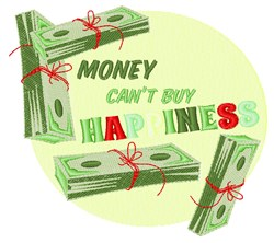 Cant Buy Happieness embroidery design