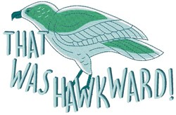 Was Hawkward embroidery design
