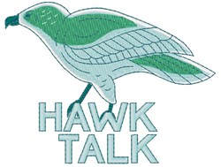 Hawk Talk embroidery design