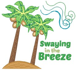 Swaying In The Breeze embroidery design