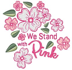Stand With Pink embroidery design