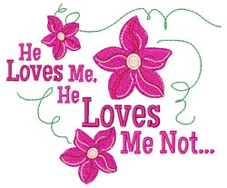 He Loves Me embroidery design
