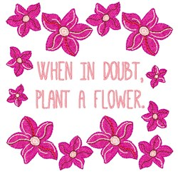 Plant A Flower embroidery design