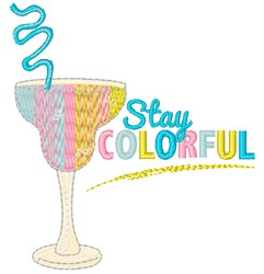 Rainbow Drink Stay Colorful embroidery design