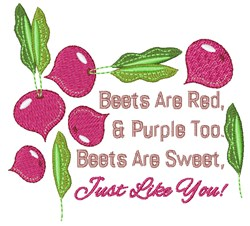 Beets Are Red embroidery design