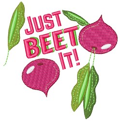 Just Beet It embroidery design