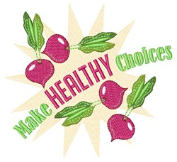 Healthy Choices embroidery design