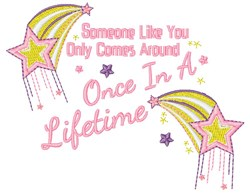 Once In Lifetime embroidery design