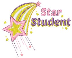 Star Student embroidery design