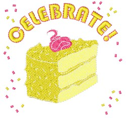 Celebrate Cake embroidery design