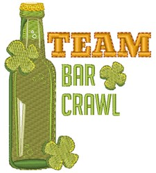 Bar Crawl embroidery design