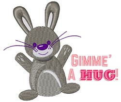 Gimme A Hug embroidery design