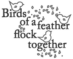 Bird Of Feather embroidery design