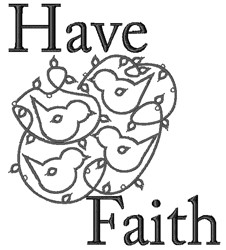 Birds Have Faith embroidery design