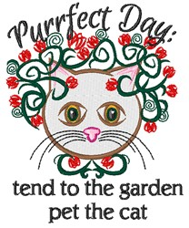 Purrfect Day embroidery design