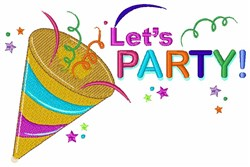 Lets Party embroidery design