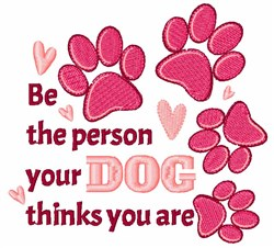 Be The Person embroidery design
