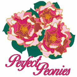 Perfect Peonies embroidery design