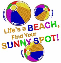 Sunny Spot embroidery design