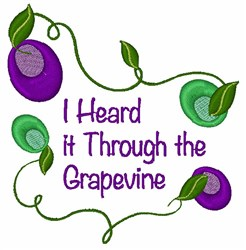 Through The Grapevine embroidery design