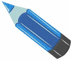 Blue Pencil embroidery design