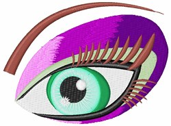 Eye Makeup embroidery design