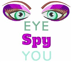Eye Spy You embroidery design