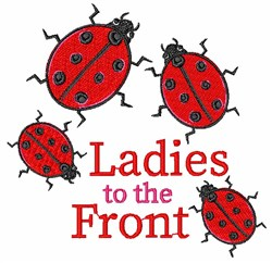 Ladies To Front embroidery design