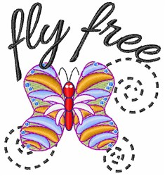 Fly Free embroidery design