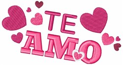 Spanish I Love You embroidery design