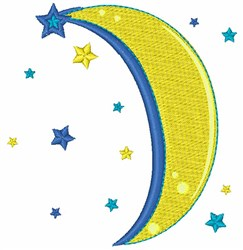 Sweet Dreams Moon embroidery design