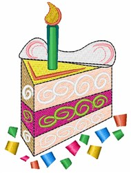 Colorful Birthday Cake embroidery design