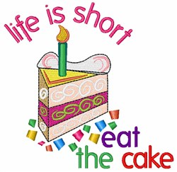 Eat The Cake embroidery design