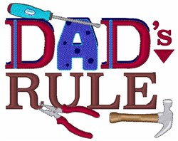 Dads Rule embroidery design