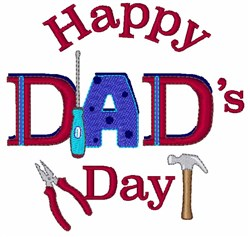 Happy Dads Day embroidery design