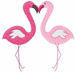 Love Bird Flamingos embroidery design