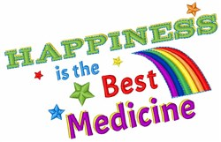 The Best Medicine embroidery design