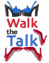 Walk The Talk embroidery design