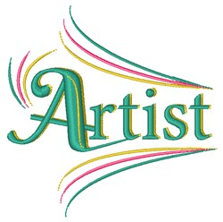 Artist embroidery design
