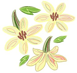 Cream Flowers embroidery design