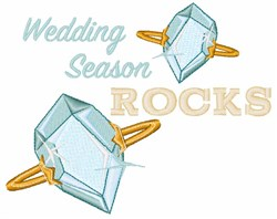 Wedding Season Rocks embroidery design