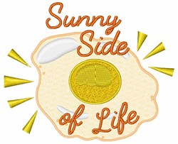 Sunny Side of Life embroidery design