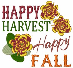 Happy Harvest Happy Fall embroidery design